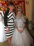 Grace Finnegan Who received first holy communion in St Cianan's church Duleek with Rachel Finnegan .<br /> <br /> Photo-Jenny Matthews