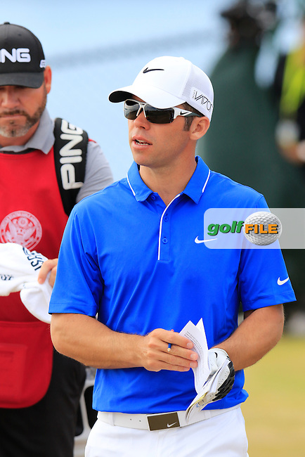 Paul CASEY (ENG) walks off the 16th tee during Thursday's Round 1 of the 2015 U.S. Open 115th National Championship held at Chambers Bay, Seattle, Washington, USA. 6/18/2015.<br /> Picture: Golffile | Eoin Clarke<br /> <br /> <br /> <br /> <br /> All photo usage must carry mandatory copyright credit (&copy; Golffile | Eoin Clarke)