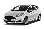 2015 Ford Fiesta St MT 2Wd 5 Door Hatchback 2WD Angular Front stock photos of front three quarter view