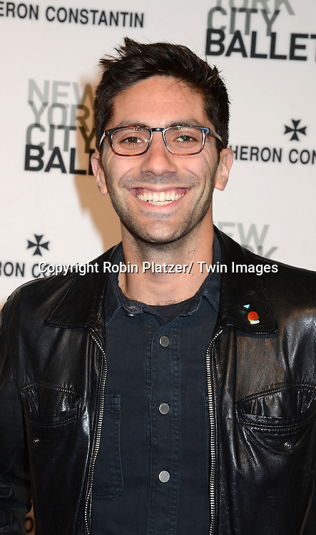 Nev Schulman attends the New York City Ballet Spring 2014 Gala on May 8, 2014 at David Koch Theatre in Lincoln Center in New York City, NY, USA.
