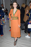 Jennifer Kirby at the Jasper Conran show as part of London Fashion Week, London, UK. <br /> 17 February  2018<br /> Picture: Steve Vas/Featureflash/SilverHub 0208 004 5359 sales@silverhubmedia.com
