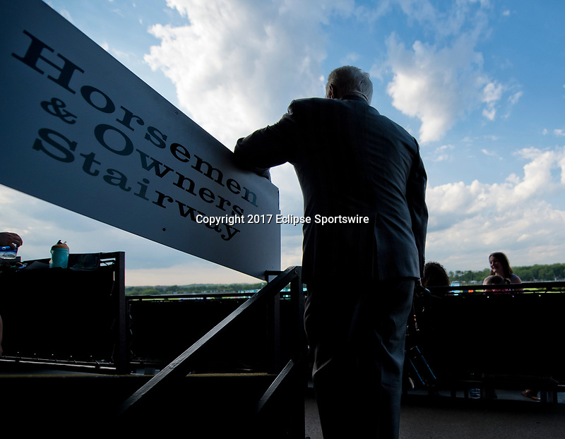 ELMONT, NY - JUNE 10: Fan watches the race on Belmont Stakes Day at Belmont Park on June 10, 2017 in Elmont, New York (Photo by Scott Serio/Eclipse Sportswire/Getty Images)