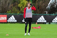 Chris Gunter of Wales during the Wales Training Session at The Vale Resort in Cardiff, Wales, UK. Saturday 12 October 2019