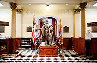 A statue of Native American inside the State Capital building of Wyoming in Cheyenne, Wyoming, Thursday, June 2, 2011.  ..Photo by Matt Nager