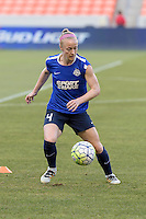 Houston, TX - Sunday June 19, 2016: Becky Sauerbrunn prior to a regular season National Women's Soccer League (NWSL) match between the Houston Dash and FC Kansas City at BBVA Compass Stadium.