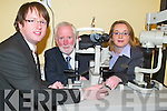 FIGHTING BLINDNESS: Optometrist John Harrington from Specsavers Opticians in Castle Street, Tralee saved the sight of John Kennedy from Dingle when he spotted symptoms leading to Glaucoma which can lead to blindness.
