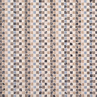 Flatweave, a hand-cut stone mosaic, shown in tumbled Pacifica, Driftwood, Cavern, Bianco Antico, Lagos Gold, and Botticino, is part of the Tissé™ collection designed by Paul Schatz for New Ravenna.