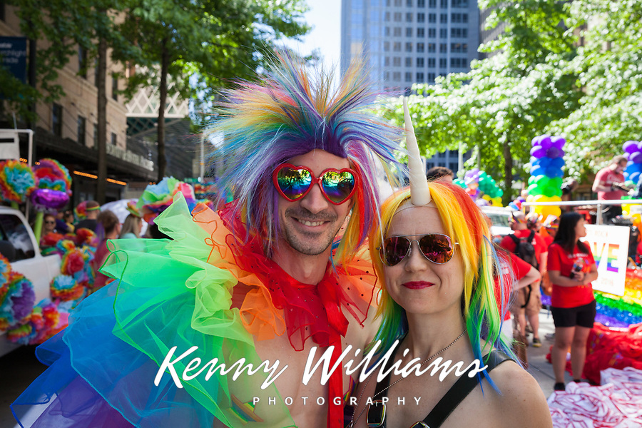 Seattle PrideFest 2016, Pride Parade and Festival, Washington, USA.