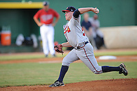 Brett Oberholtzer Danville Braves (Atlanta Braves) delivers a pitch at Joe O'Brien Stadium August 17, 2009 in Elizabethton, TN (Photo by Tony Farlow/Four Seam Images)