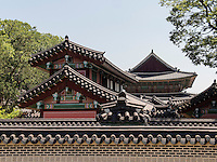Dächer im Changdeokgung Palast, Seoul, Südkorea, Asien, UNESCO-Weltkulturerbe<br /> roof s in palace Changdeokgung,  Seoul, South Korea, Asia UNESCO world-heritage