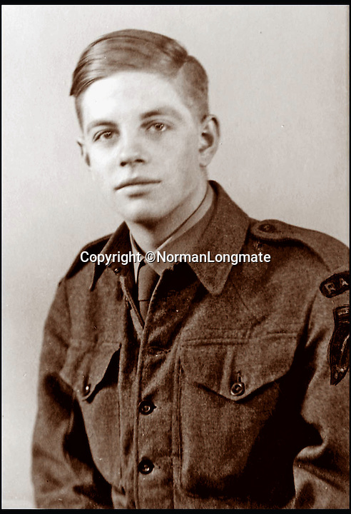 BNPS.co.uk (01202 558833)<br /> Pic: NormanLongmate/BNPS<br /> <br /> Author Norman Longate, joined 'Dad's Army' at the same age as the fictional character 'Pike', seventeen.<br /> <br /> A new book about the overzealous, trigger-happy capers of the Home Guard reveals just how close to reality the much-loved TV sitcom Dad's Army really was.<br /> <br /> Author Norman Longmate has compiled some of the most farcical tales of life in the wartime volunteer service, including a hedgehog mistaken for a paratrooper and a private who melted his boots.<br /> <br /> The book, The Real Dad's Army, is being published as the popular comedy series gets a big screen reboot with star names including Bill Nighy, Catherine Zeta-Jones and Michael Gambon.