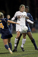 "Boston College forward Stephanie Wirth (22) traps the ball as West Virginia defender Mallory Smith (22) defends. Boston College defeated West Virginia, 4-0, in NCAA tournament ""Sweet 16"" match at Newton Soccer Field, Newton, MA."