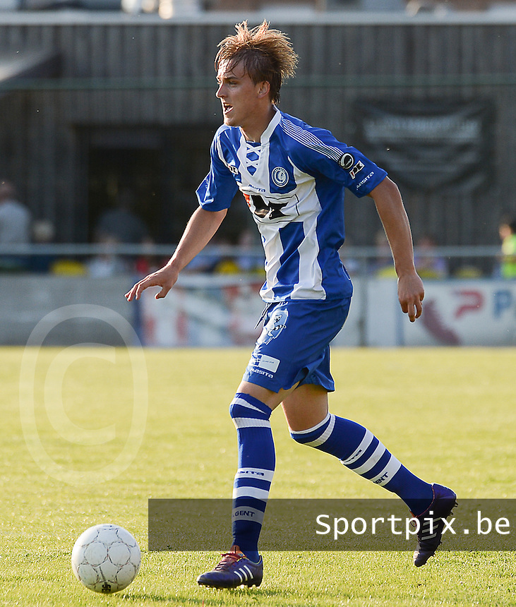 20140626 - LAUWE, BELGIUM : Gent Nermin Zolotic pictured during  a friendly match between FC Gullegem and Belgian first division soccer team KAA Gent, the second match for KAA Gent of the preparations for the 2014-2015 season, Tuesday 24 June 2014 in Lauwe. PHOTO DAVID CATRY