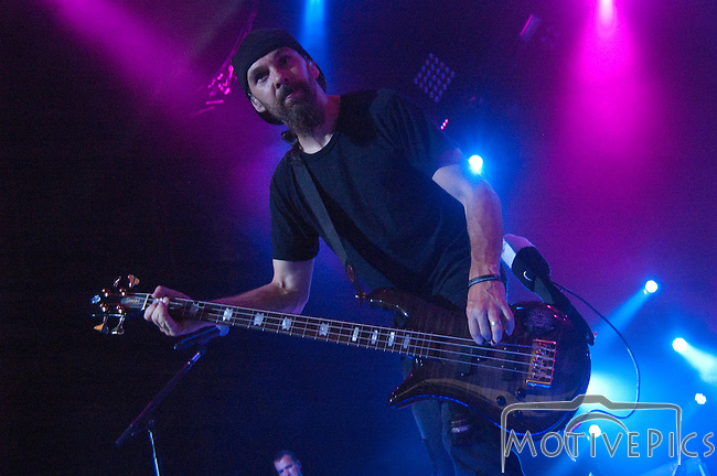 Godsmack playing the main stage during Mayhem Fest 2011, at Verizon Wireless Amphitheater.