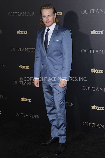 WWW.ACEPIXS.COM<br /> April 1, 2015 New York City<br /> <br /> Sam Heughan attending STARZ Original series &ldquo;Outlander&rdquo; celebration of &ldquo;Droughtlander&rdquo; at a special premiere screening of &ldquo;The Reckoning&rdquo; at The Ziegfeld Theater on  April 1, 2015 in New York City.<br /> <br /> Please byline: Kristin Callahan/AcePictures<br /> <br /> ACEPIXS.COM<br /> <br /> Tel: (646) 769 0430<br /> e-mail: info@acepixs.com<br /> web: http://www.acepixs.com