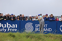 Sebastian Soderberg (SWE) tees off the 18th tee during Saturday's Round 3 of the Dubai Duty Free Irish Open 2019, held at Lahinch Golf Club, Lahinch, Ireland. 6th July 2019.<br /> Picture: Eoin Clarke | Golffile<br /> <br /> <br /> All photos usage must carry mandatory copyright credit (© Golffile | Eoin Clarke)