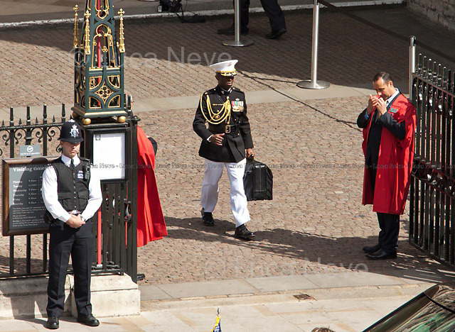 """""""Dr. Strangelove"""" - 2011<br /> <br /> London, 24/05/2011. The US President Barack Obama and his wife Michelle Obama arrived at Westminster Abbey during their first state visit to the United Kingdom."""