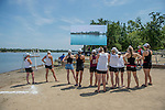 MAY 28, 2016: The Bates crew watches the DIII - I Eights Grand Final race on the big screen held at Lake Natoma in Gold River, Ca. on Saturday May 28, 2016