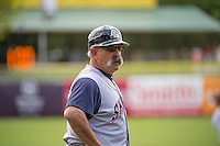 Manager Rick Sweet (16) of the Colorado Springs Sky Sox during the game against the Salt Lake Bees in Pacific Coast League action at Smith's Ballpark on May 24, 2015 in Salt Lake City, Utah.  (Stephen Smith/Four Seam Images)