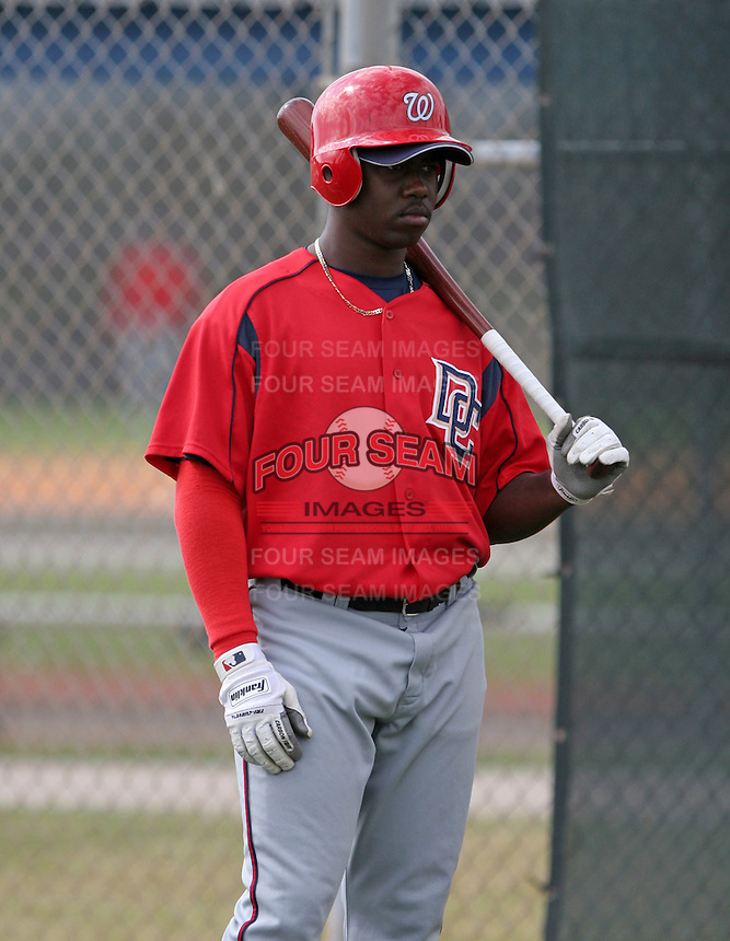 Washington Nationals minor leaguer Shairon Martis during Spring Training at the Carl Barger Training Complex on March 19, 2007 in Melbourne, Florida.  (Mike Janes/Four Seam Images)