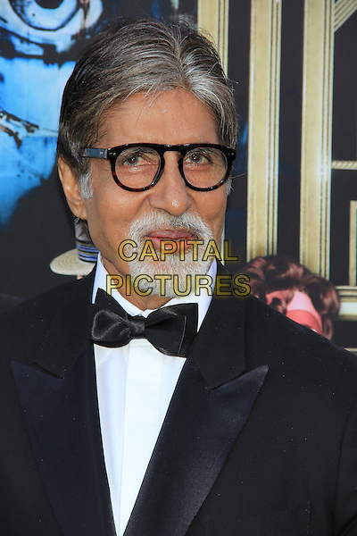 "Amitabh Bachchan.The World Premiere of ""The Great Gatsby"" held at Avery Fisher Hall - Lincoln Center, New York, NY., USA..May 1st, 2013.headshot portrait black white bow tie tuxedo glasses goatee facial hair .CAP/LNC/TOM.©LNC/Capital Pictures."