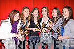 Presented with their awards for baskerball at the Duagh/Lyre community games awrds night at Duagh national school hall on Friday night were l-r. Mariah Stack, Sorcha McNulty, Eibhli?s Dillon. Sarah sheehy, Laura Sheera?n and Eathnait Scanlon..   Copyright Kerry's Eye 2008