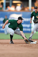 South Bend Silver Hawks second baseman David Narodowski (3) during a game vs. the West Michigan Whitecaps at Fifth Third Field in Comstock Park, Michigan August 16, 2010.   West Michigan defeated South Bend 3-2.  Photo By Mike Janes/Four Seam Images