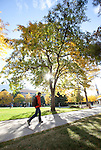 1010-55 242<br /> <br /> 1010-55 GCS Fall<br /> <br /> Students on campus with fall leaves, sunrise<br /> <br /> October 21, 2010<br /> <br /> Photo by Jaren Wilkey/BYU<br /> <br /> &copy; BYU PHOTO 2010<br /> All Rights Reserved<br /> photo@byu.edu  (801)422-7322