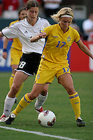 Anna Sjoestroem, Germany 2-1 over Sweden at the  WWC 2003 Championships.