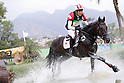 Ryuzo Kitajima (JPN), <br /> AUGUST 8, 2016 - Equestrian : <br /> Eventing Individual Cross country <br /> at Olympic Equestrian Centre <br /> during the Rio 2016 Olympic Games in Rio de Janeiro, Brazil. <br /> (Photo by Yusuke Nakanishi/AFLO SPORT)