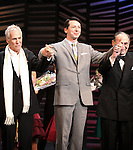 "Burt Bacharach, Sean Hayes, Hal David.taking a bow on the  Opening Night Broadway performance Curtain Call for ""PROMISES, PROMISES"" at the Broadway Theatre, New York City..April 25, 2010."