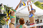 (L to R) Takemi Nishibori, Shinako Tanaka, MAY 6, 2012 - Beach Volleyball : JBV Tour 2012 Sports Club NAS Open  Women's final at Odaiba Beach, Tokyo, Japan. (Photo by Yusuke Nakanishi/AFLO SPORT) [1090]
