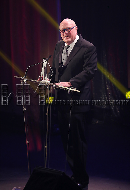 Thomas E. Tufts onstage during the Roundabout Theatre Company's  50th Anniversary Gala at The Waldorf-Astoria on February 29, 2016 in New York City.
