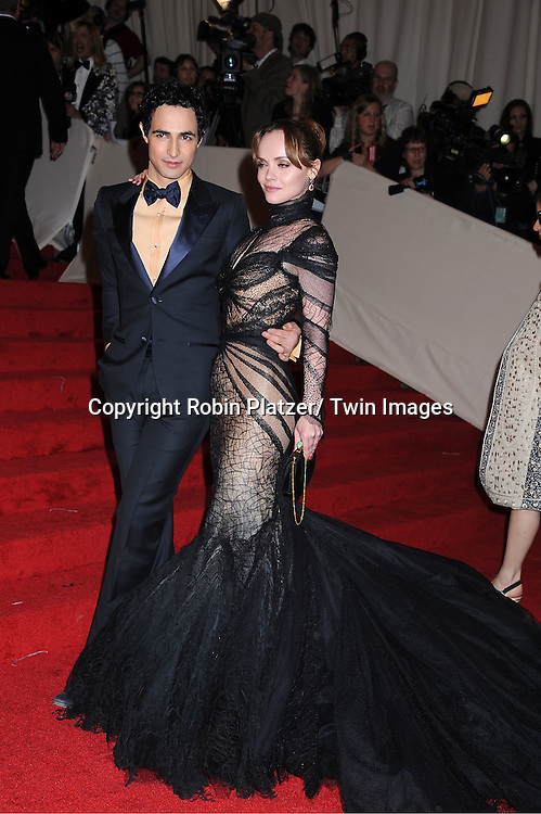 "Zac Posen and Christina Ricci arriving at The Costume Institute Gala Benefit celebriting ""Alexander McQueen: Savage Beauty"" at The Metropolitan Museum of Art in New York City on May 2, 2011."