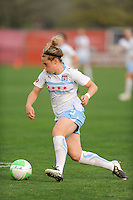 Ella Masar (3) of the Chicago Red Stars. Sky Blue FC defeated the Chicago Red Stars 1-0 in a Women's Professional Soccer (WPS) match at Yurcak Field in Piscataway, NJ, on April 11, 2010.