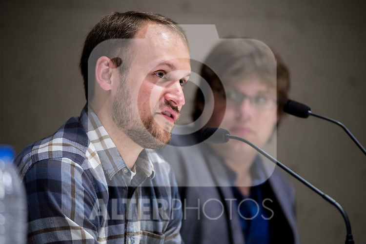 "American director Jason Sheedy (L) and american producer Kyle Steinike during the press conference of the film ""Patient"" during the Madrid International Fantastic Film Festival Nocturna in Madrid. May 25 2016. (ALTERPHOTOS/Borja B.Hojas)"
