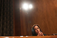 United States Senator Kamala Harris (Democrat of California) questions witnesses during the US Senate Committee on Homeland Security and Government Affairs hearing on April 9, 2019.<br /> Credit: Stefani Reynolds / CNP/AdMedia