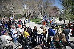 Rancher Cliff Gardner speaks at a rally outside the Legislative Building in Carson City, Nev., on Tuesday, March 31, 2015. <br /> Photo by Cathleen Allison