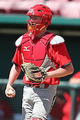 Team Canada catcher Christopher Shaw #23 during a game vs the Nexen Heroes at Al Lang Field in St. Petersburg, Florida;  February 28, 2011.  Canada defeated Nexen 2-0.  Photo By Mike Janes/Four Seam Images