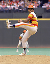 CIRCA 1979: Joaquín Andújar  #47 of the Houston Astros pitching during a game from his 1979 season. Joaquín Andújar played for 13 seasons, with 3 different teams and was a 4-time All-Star. (Photo by: 1979  SportPics  )  Joaquín Andújar