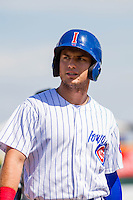 Iowa Cubs outfielder Albert Almora Jr. (6) during a game against the Colorado Springs Sky Sox on September 4, 2016 at Principal Park in Des Moines, Iowa. Iowa defeated Colorado Springs 5-1. (Brad Krause/Four Seam Images)