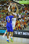 France´s DIAW, Boris and Spain's GASOL, Pau during 2014 FIBA Basketball World Cup Group Phase-Group A, match France vs Spain. Palacio  Deportes of Granada. September 2,2014. (ALTERPHOTOS/Raul Perez)