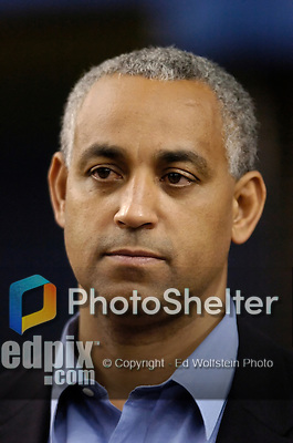 21 September 2004:  General Manager of the Montreal Expos Omar Minaya during pre-game field activity before the series against the visiting New York Mets. The Expos defeated the Mets 6-1 at Olympic Stadium in Montreal, Canada.<br /> <br /> Mandatory Credit: Ed Wolfstein