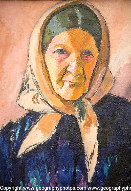 'Old Woman' 1909 oil painting on canvas by Jean Helberg 1884-1976,  Kode 3 art gallery Bergen, Norway