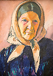 'Old Woman' 1909 oil painting on canvas by Jean Helberg 1884-1976,  Kode 3 art gallery Bergen, Norway