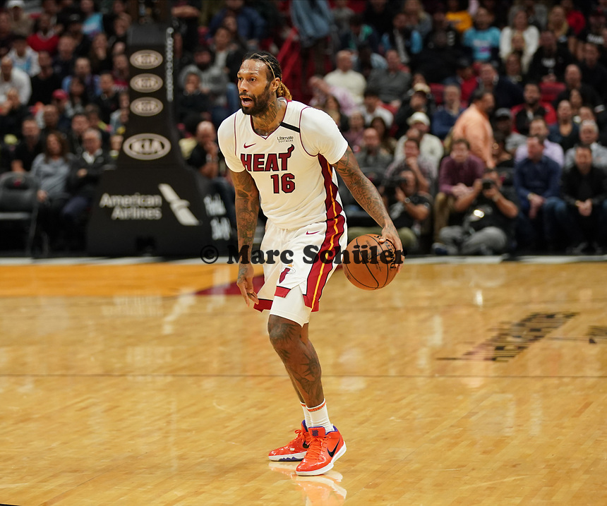 James Johnson (F Miami Heat, #16) - 22.01.2020: Miami Heat vs. Washington Wizards, American Airlines Arena
