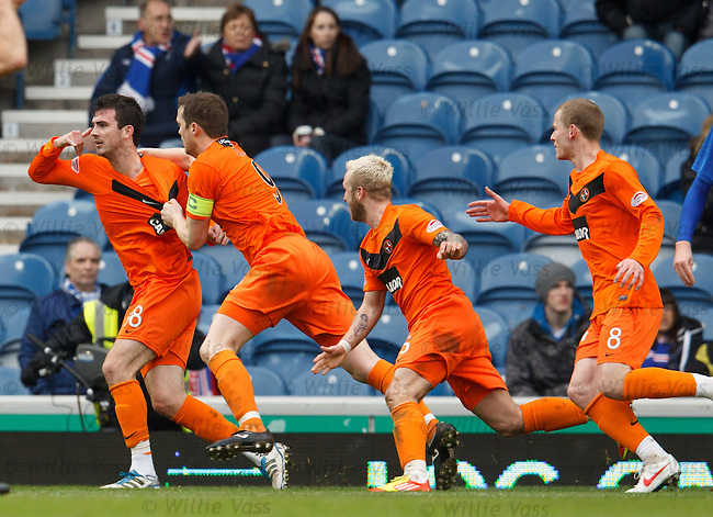 Gavin Gunning celebrates his goal as Rangers are stunned