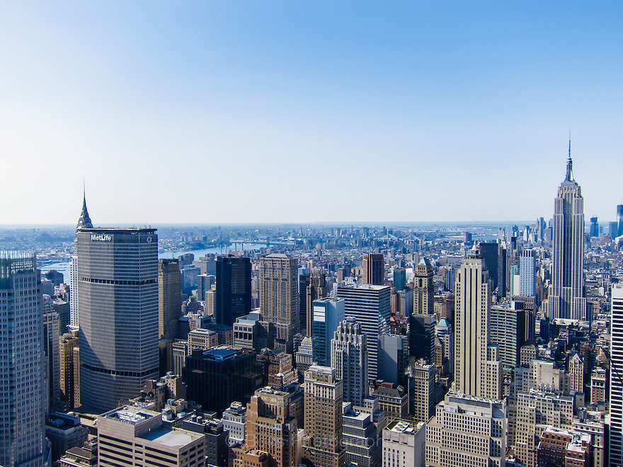 View of Manhattan from the Rockefeller Center