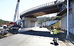 WATERBURY CT. 17 October 2017-101717SV10-The new I84 exit 25 ramp under construction in Waterbury Tuesday.<br /> Steven Valenti Republican-American