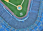 Aerial Photograph of Original Yankee Stadium, Bronx, New York